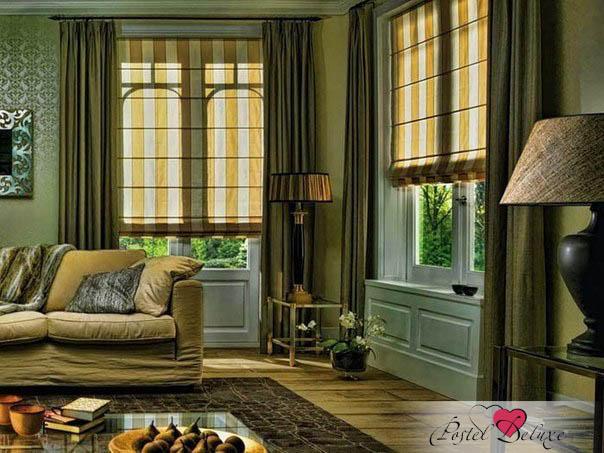 Купить Римские и рулонные шторы Уют, Римские шторы Innes, Россия, Зеленый, Портьерная ткань