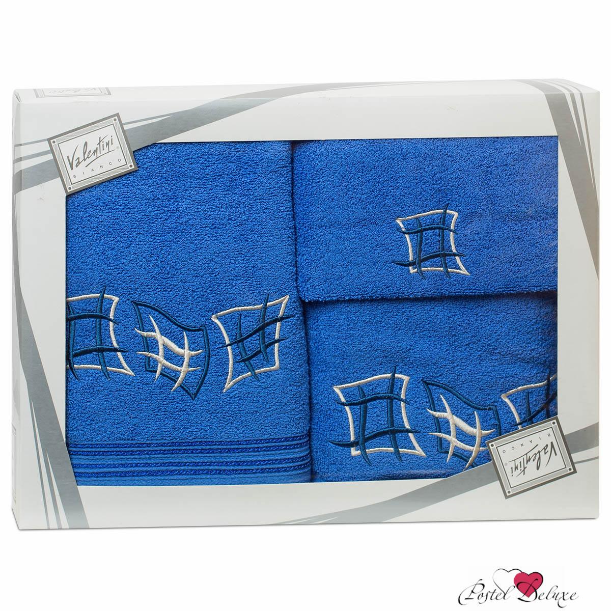 Купить Полотенца Valentini, Полотенце Ernestina Цвет: Синий (Набор), Португалия, Махра