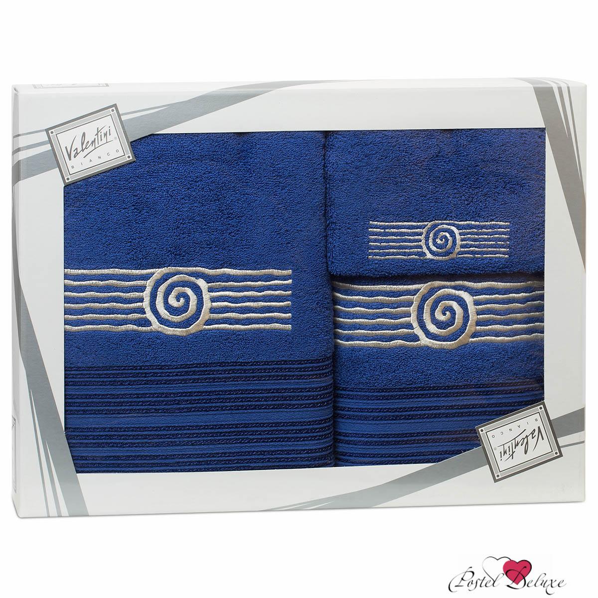 Купить Полотенца Valentini, Полотенце Sea Цвет: Синий (Набор), Португалия, Махра