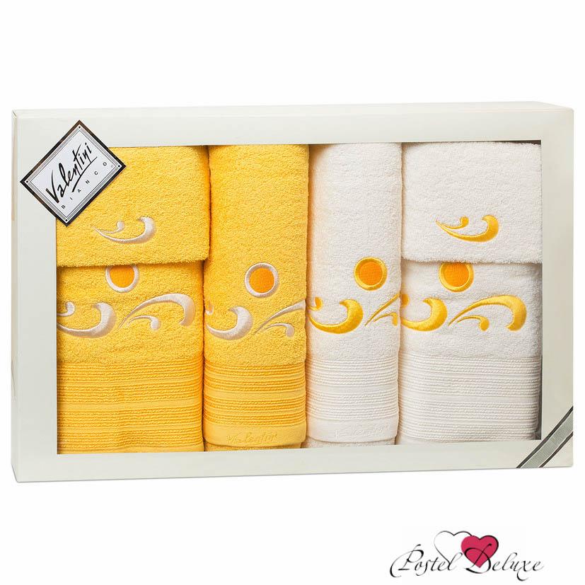 Купить Полотенца Valentini, Полотенце Fantasy Цвет: Желтый, Кремовый (Набор), Португалия, Махра