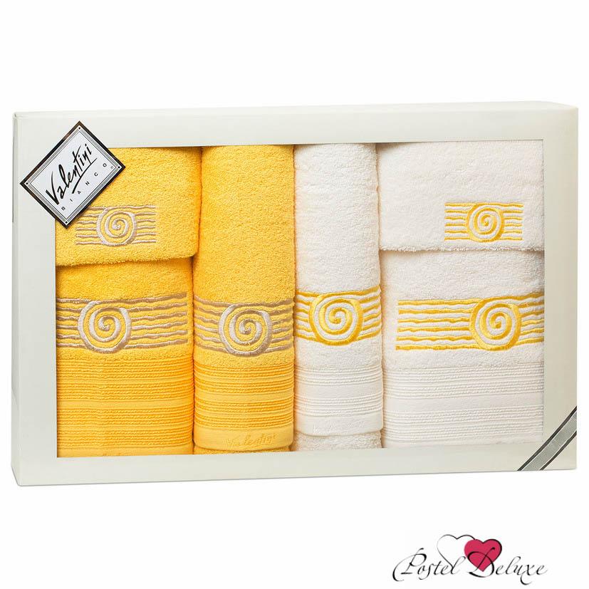 Купить Полотенца Valentini, Полотенце Sea Цвет: Желтый, Белый (Набор), Португалия, Белый, Желтый, Махра