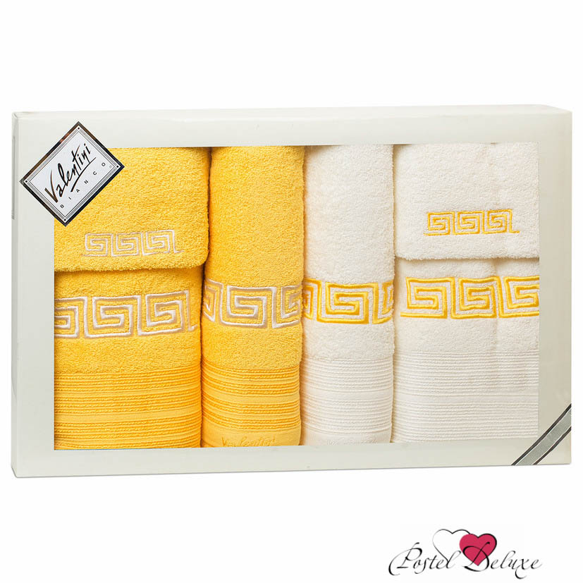 Купить Полотенца Valentini, Полотенце Fashion 2 Цвет: Желтый (Набор), Португалия, Махра