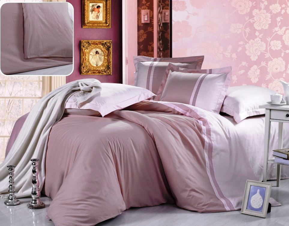 Купить Комплекты постельного белья Valtery, Постельное белье Nadine (1, 5 спал.), Китай, Розовый, Хлопковый сатин