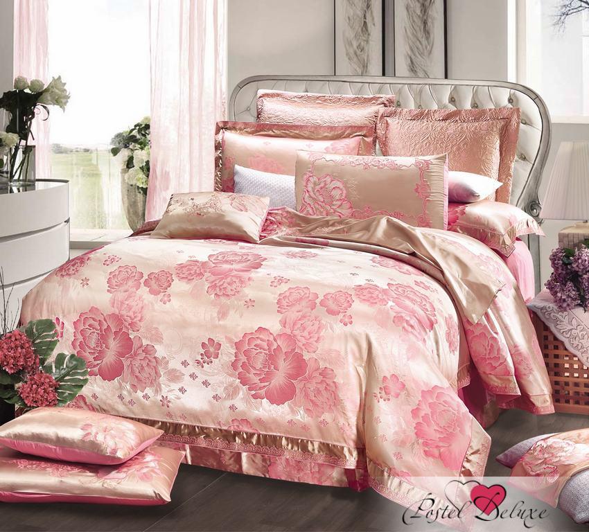 Купить Комплекты постельного белья Valtery, Постельное белье Tania (семейное), Китай, Персиковый, Розовый, Хлопковый сатин