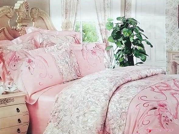 Купить Комплекты постельного белья Valtery, MaeveV3 (2 сп. евро), Китай, Розовый, Хлопковый сатин
