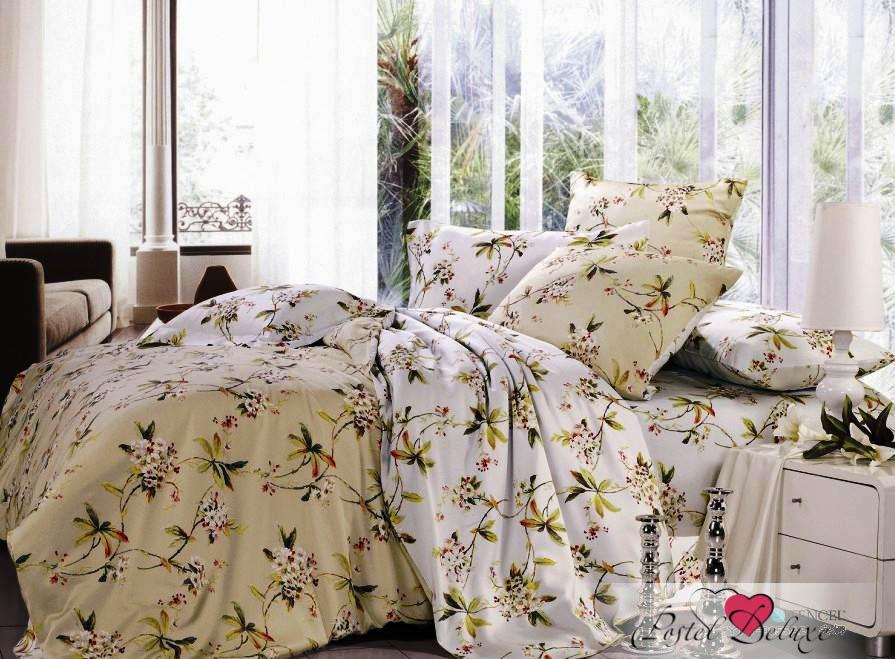Купить Комплекты постельного белья Valtery, Постельное белье Holly(1, 5 спал.), Китай, Бежевый, Белый, Хлопковый сатин
