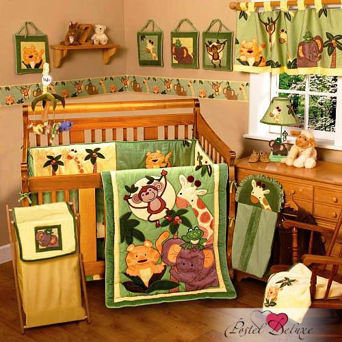 Купить Детское постельное белье Valtery, Постельное белье Happy Jungle (112х147 см + бортик), Китай, Перкаль