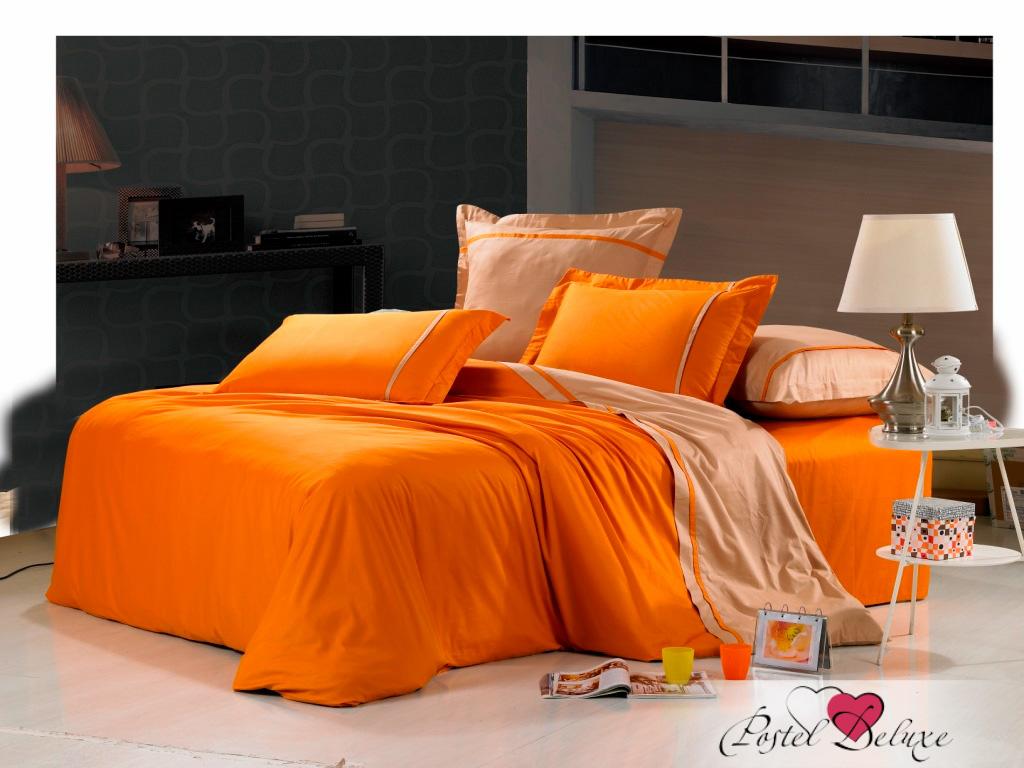 Купить Комплекты постельного белья Valtery, Постельное белье Carla (семейное), Китай, Коричневый, Оранжевый, Хлопковый сатин