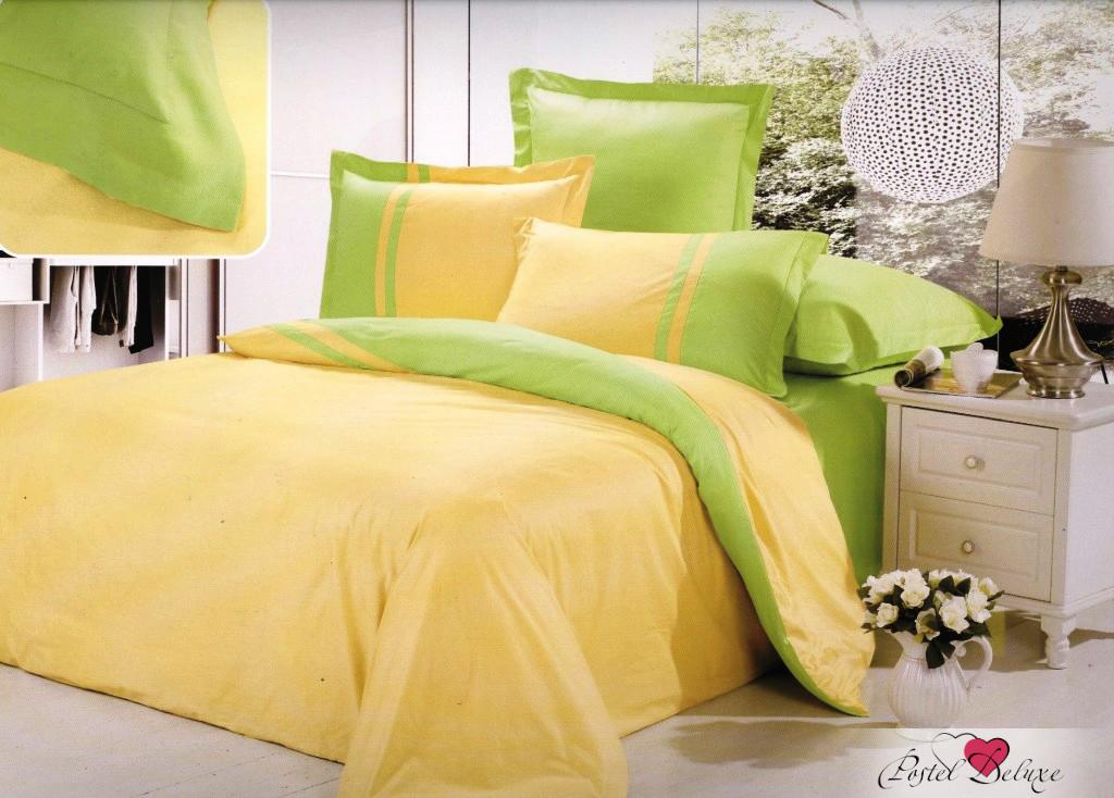 Купить Комплекты постельного белья Valtery, Постельное белье Amor (семейное), Китай, Желтый, Зеленый, Хлопковый сатин