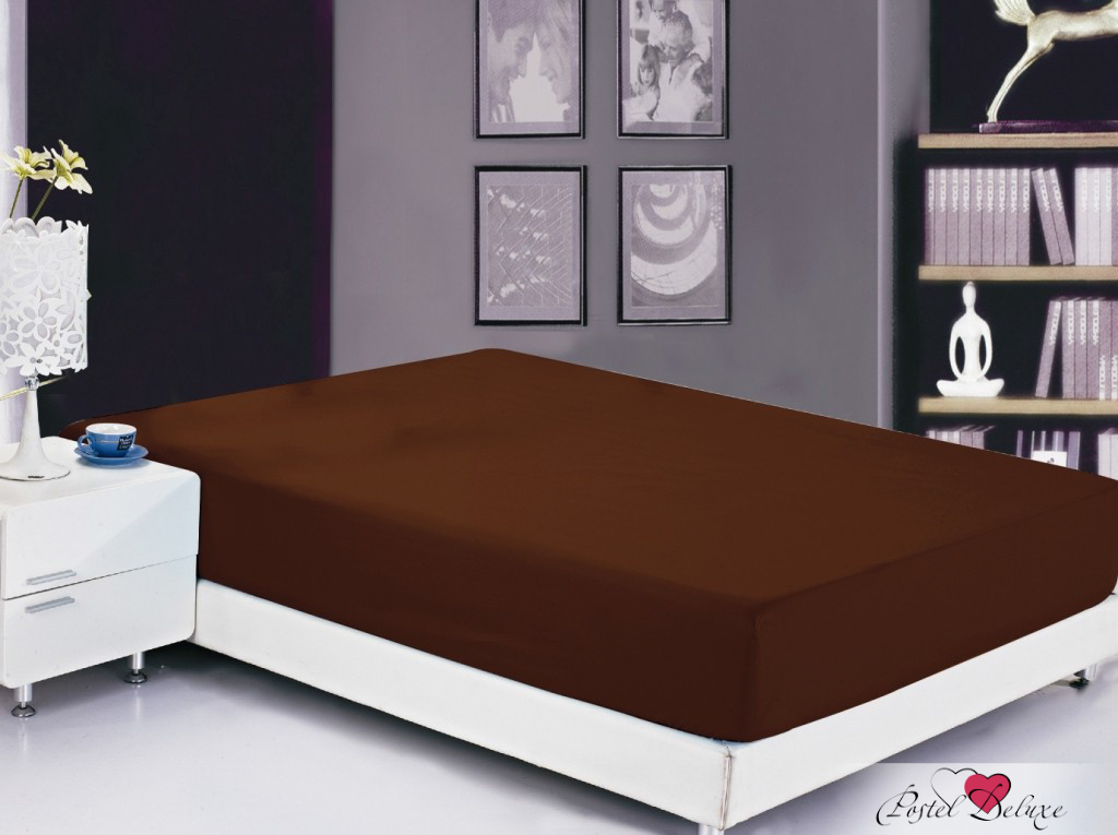 Простыни Valtery Простыня на резинке Joleen Цвет: Шоколадный