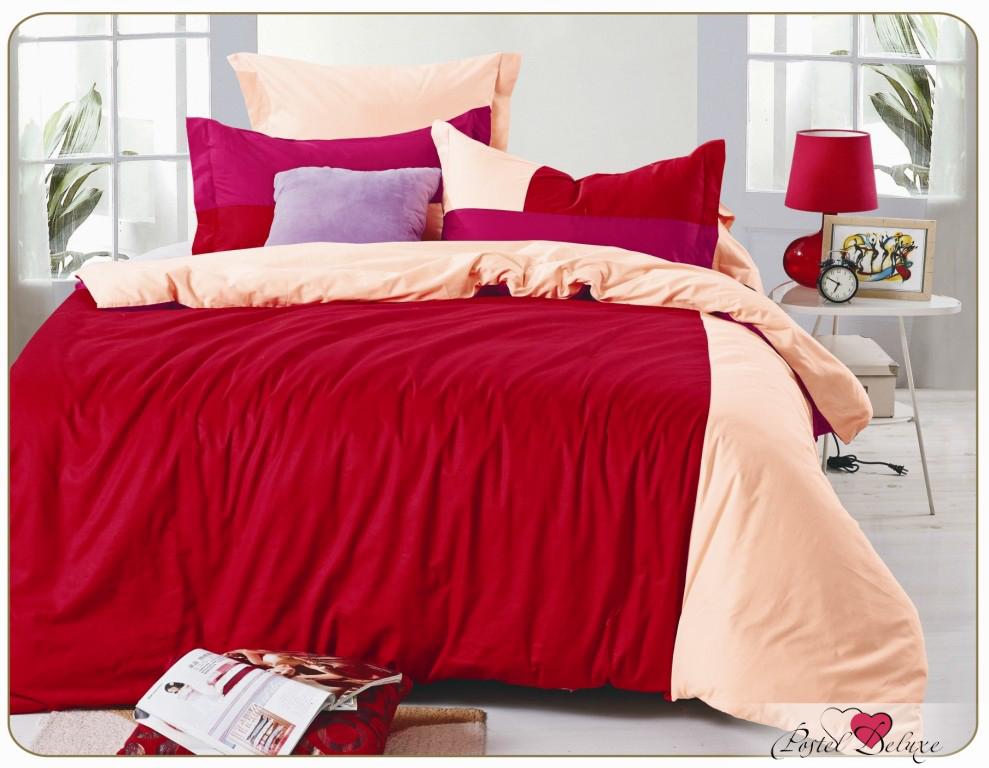 Комплекты постельного белья Valtery, Постельное белье Aletha (семейное), Китай, Красный, Персиковый, Хлопковый сатин  - Купить