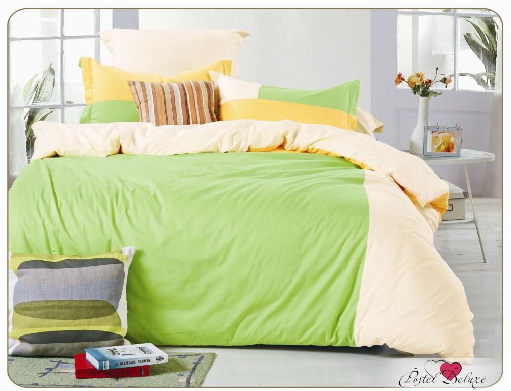 Купить Комплекты постельного белья Valtery, Постельное белье Dacey (семейное), Китай, Зеленый, Кремовый, Хлопковый сатин