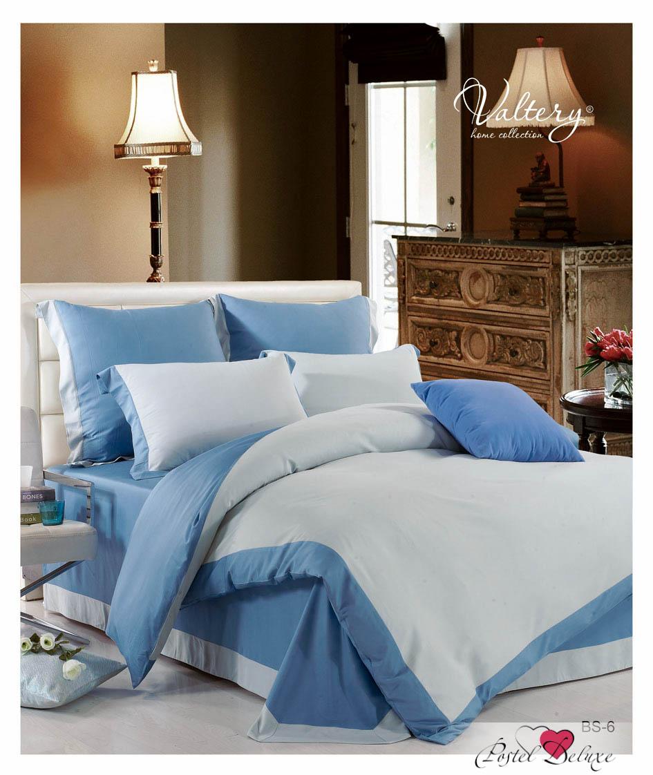Купить Комплекты постельного белья Valtery, Постельное белье Aspen (2 сп. евро), Китай, Голубой, Синий, Бамбуковый сатин