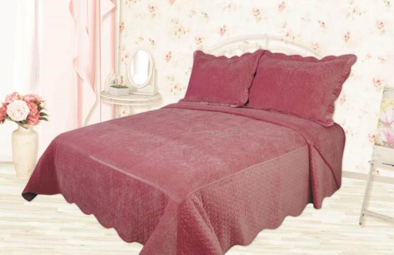 Пледы и покрывала Романтика Покрывало Вельвет Цвет: Розовый (240х260 см)