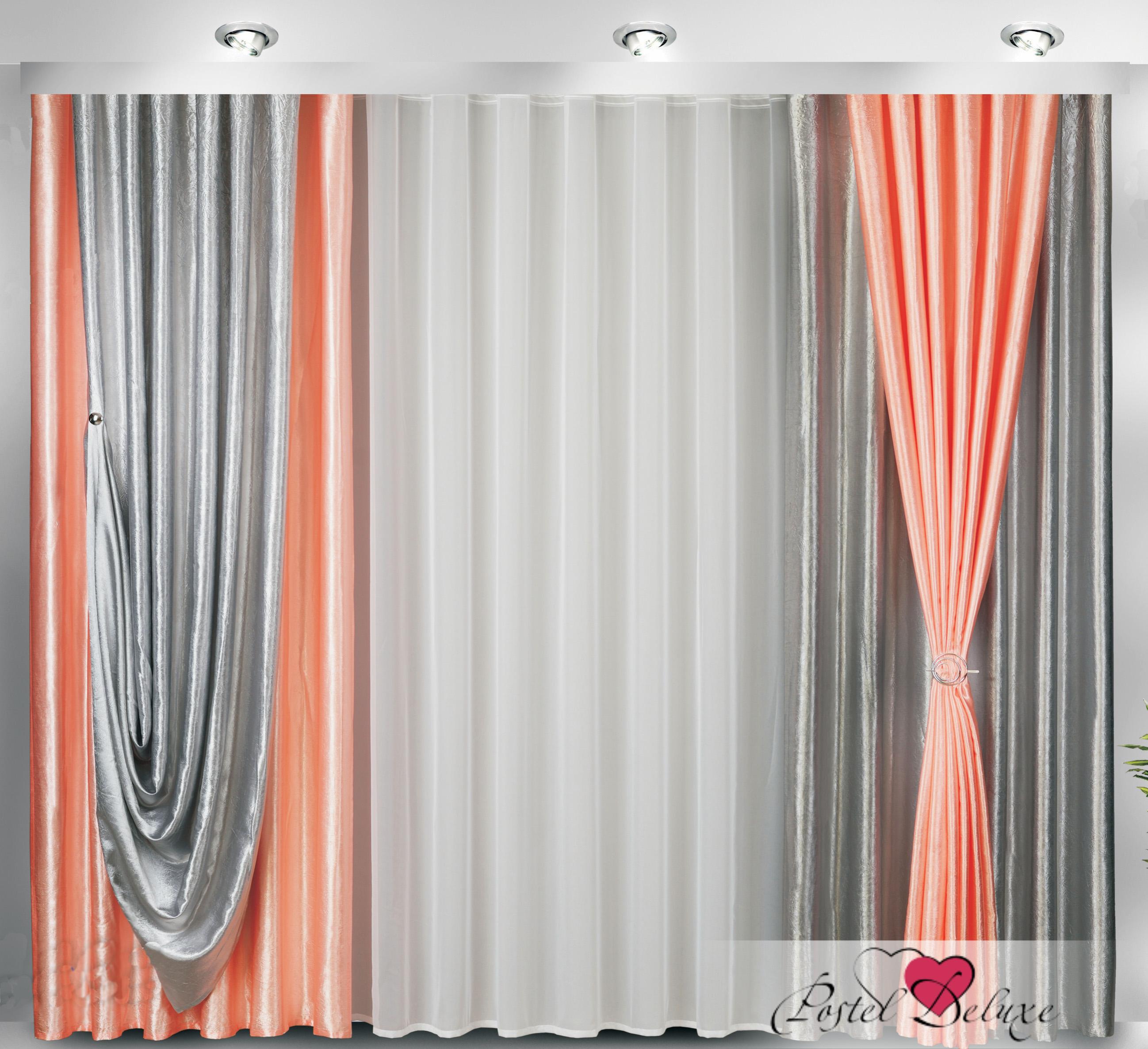 Купить Шторы Велес, Классические шторы Belphoebe, Беларусь, Розовый, Серый, Тафта