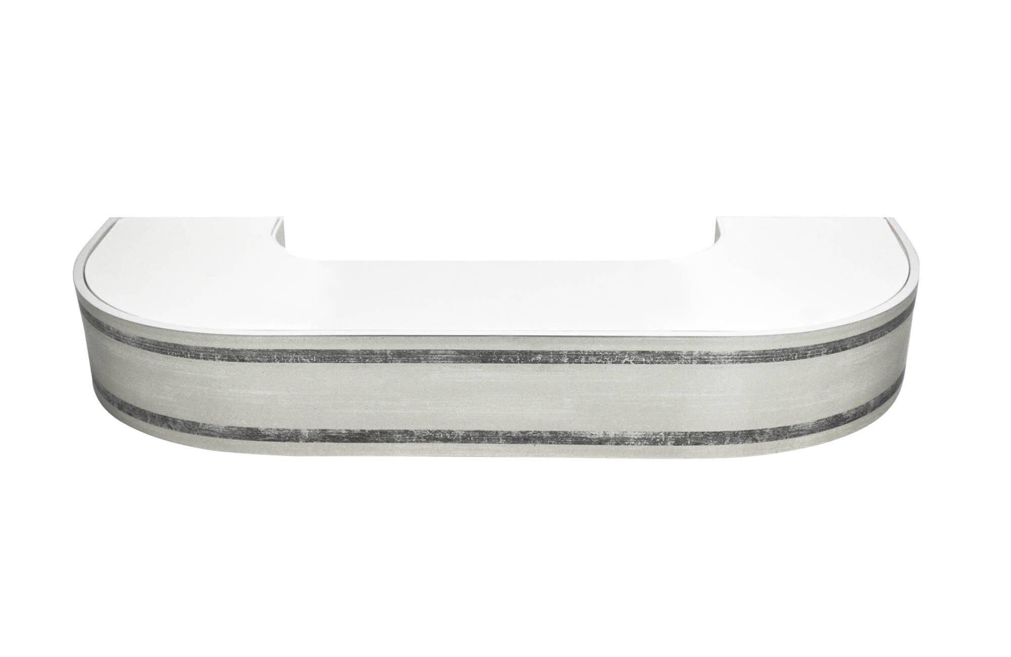 Карнизы и аксессуары для штор ARCODORO Карниз Меланж Цвет: Серебро (180 см)