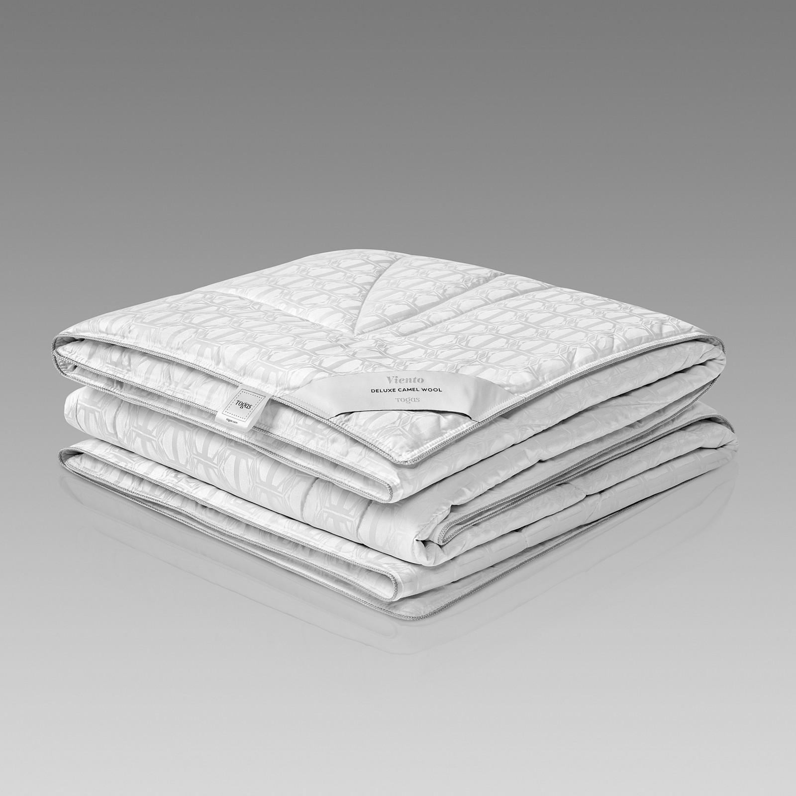 Одеяла Togas, Одеяло Виенто (200х210 см), Греция, Белый, Шелковый Жаккард  - Купить