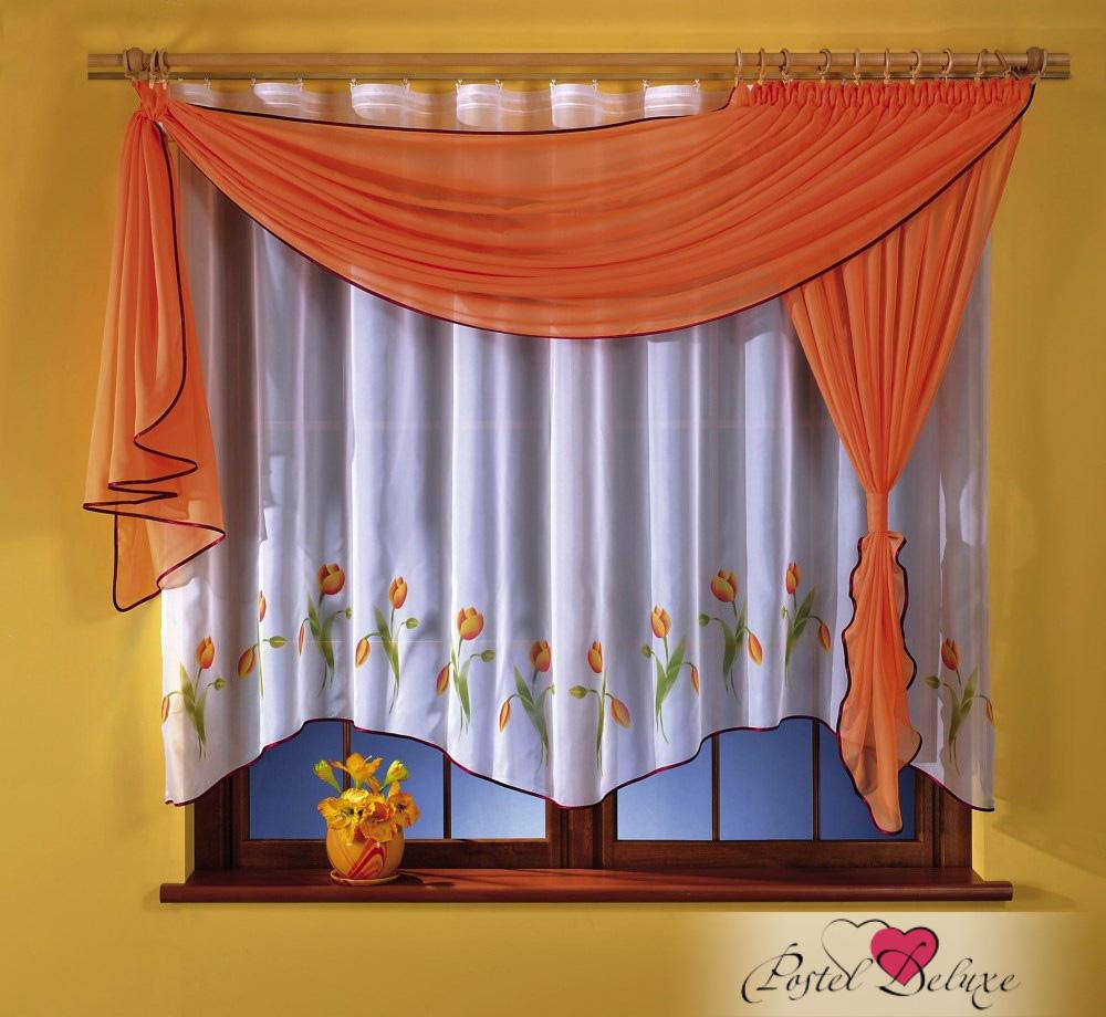 Купить Шторы Wisan, Шторы с ламбрекеном Alvie Цвет: Оранжевый, Польша, Белый, Оранжевый, Вуаль