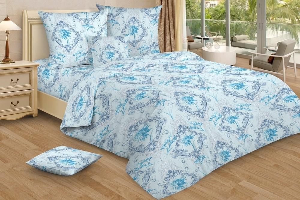 Комплекты постельного белья Ночь Нежна Постельное белье Лунный свет цвет: синий (1,5 спал.)