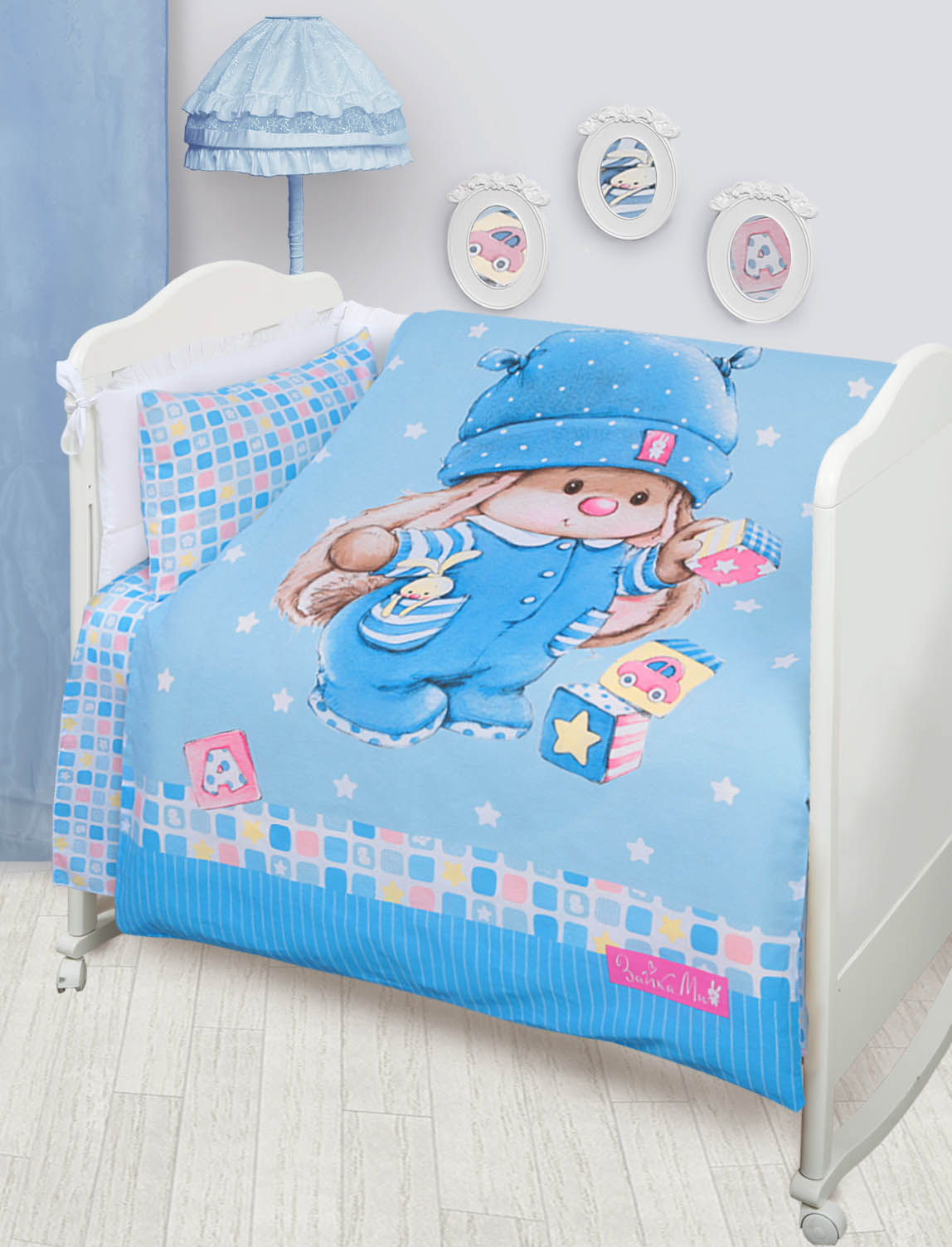 детское постельное белье Mona Liza    Зайка  Кубиками(110х145 см)