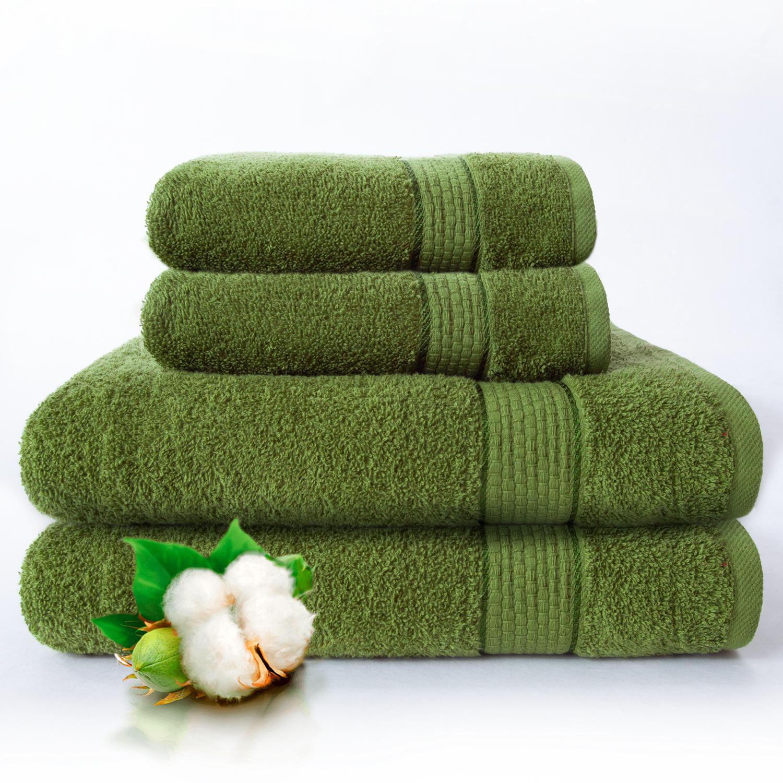 Набор из 4 полотенец Marakesh Цвет: Зеленый (50х90 см - 2 шт, 70х140 см - 2 шт)