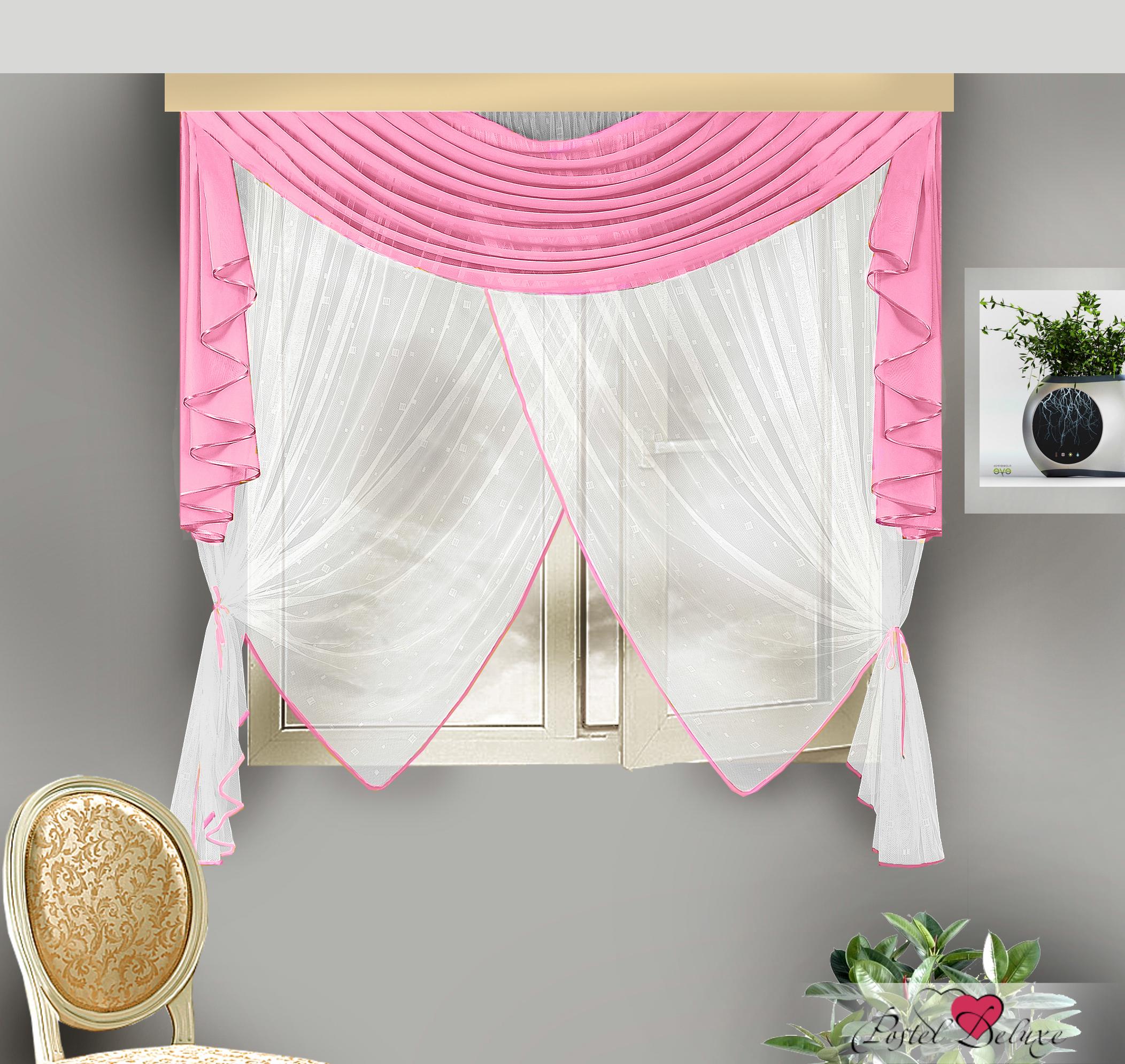 Купить Шторы Zlata Korunka, Скрещенные шторы Ayeesha, Россия, Белый, Розовый, Вуаль