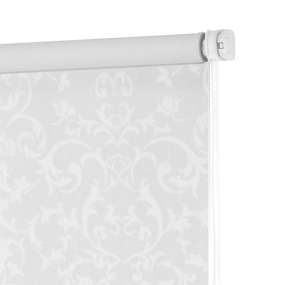 Рулонные шторы Завитки Цвет: Белый